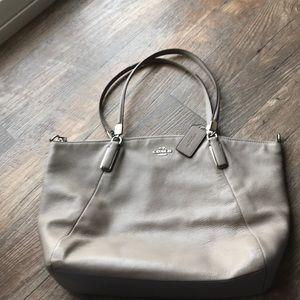 Coach gray purse- large